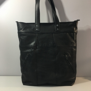 TORBA FIO SHOPPER UPCYCLING - BLACK