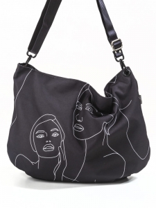 TORBA FIO HOBO - BLACK FACES