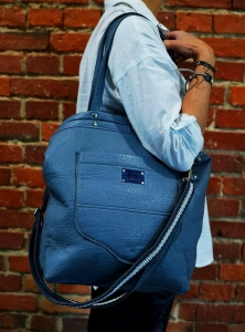 TORBA FIO SHOPPER - BLUE CITY